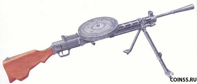 Армии был ручной пулемет,